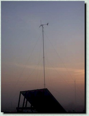 Our own hybrid wind and solar system, capable of supplying all the power our energy efficient home requires.