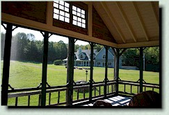 hand crafted replica, screened in porch